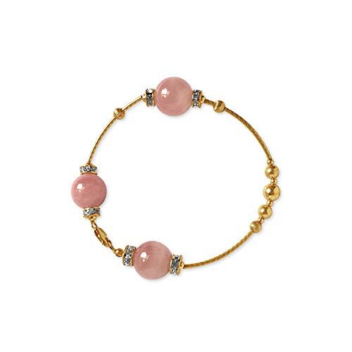 Armband Armreif,Schmuck Geschenk, Natural Crystal Bracelet Women Handmade Design 14Kgold-Filled Friendship Gem Hand String Bracelets SC1105 pink Wrist 15.6-16.5cm