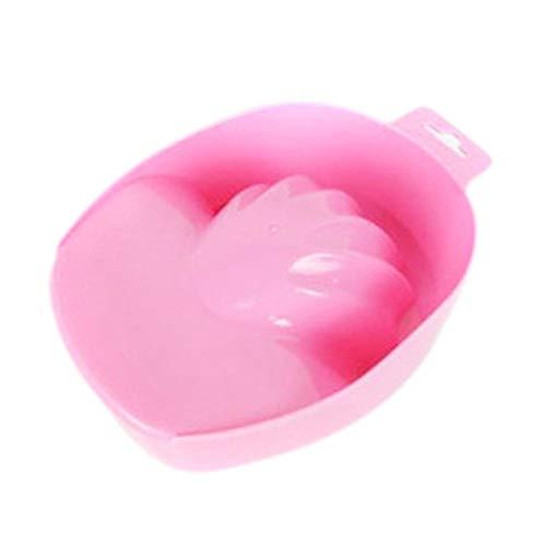 Nicedeal - Cuenco de manicura para manicura de manicura (rosa), herramientas de maquillaje y pinceles para belleza
