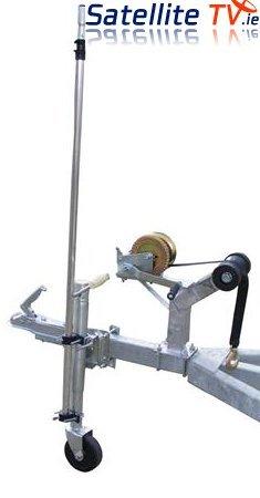 Satgear Mât de fixation télescopique pour antenne TV multidirectionnelle et petite antenne parabolique pour camping-car avec dispositif d'attelage