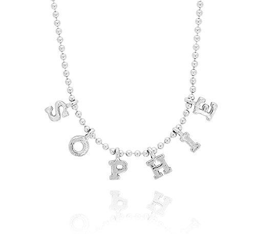 Halskette aus Silber mit Brief von Vorname Personalisierte
