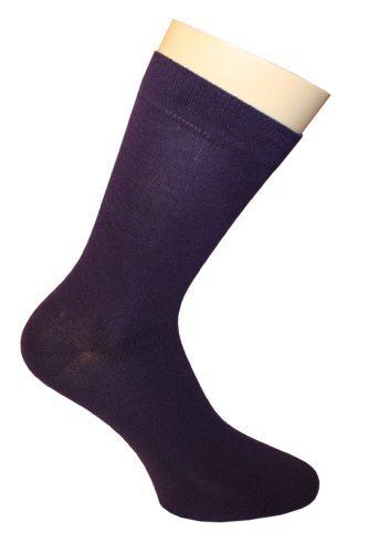 Weri Spezials. SOIE de haute qualite.Chaussettes pour Femmes. Couleur:Violet, Taille: 39-42