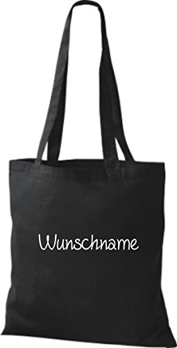 Shirtstown Stoffbeutel mit Ihrem Wunschtext versehen Schwarz