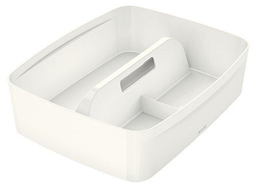 Leitz MyBox, Organiser mit Griff, Groß, Blickdicht, Weiß, Kunststoff, 53220001 Modular-box-system