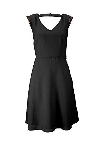 BUFFALO Damen-Kleid Kleid mit Strass Schwarz Größe 32