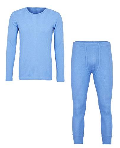 MioRalini Herren Thermowäsche, Artikel: 1 Hemd 1 Hose Hellblau, Groesse: 3XL-9