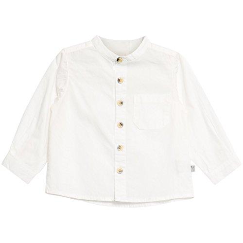 Wheat Baby-Jungen Hemd Pocket Langarm White, 68 (Herstellergröße:6m/ 68) (Pocket White Hemd)
