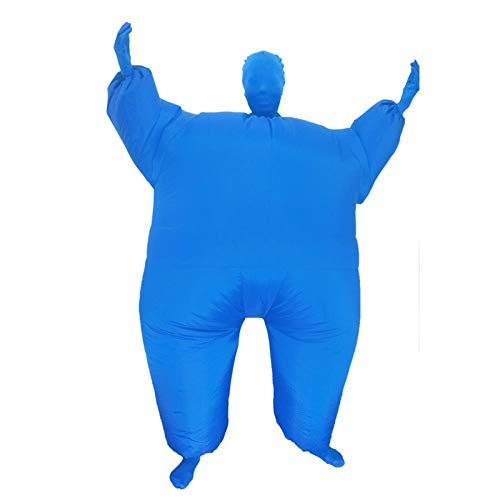 Aufblasbare Blaue Kostüm Lustige - Meixiang Aufblasbare Kleidung Halloween-Zubehör, Lustige Aufblasbare Kostüme, Party-Cartoon-Puppenkostüme, Blau