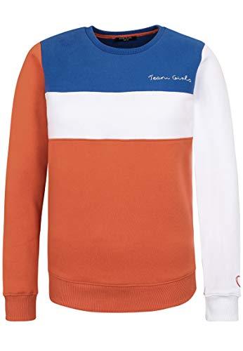 Sublevel Damen Sweatshirt im Colourblock Style Casual orange L