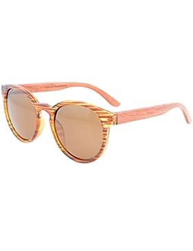 Eyekepper Gafas de Sol Polarizadas Ovales Bifocales con Patas de Madera y Bisagra de Resorte para Mujer