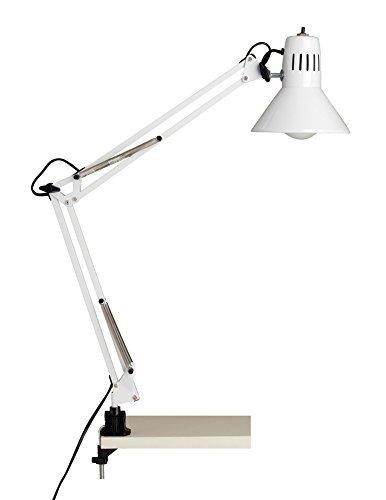 Brilliant HOBBY blanc : lampe de bureau à pince