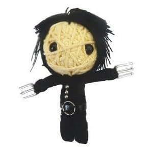 Edward Scissor Hands Voodoo Doll Keyring Bag Charm - Johnny Depp