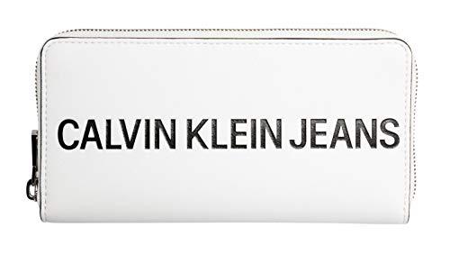 Calvin Klein Sculpted Logo Large Zip Around Bright White