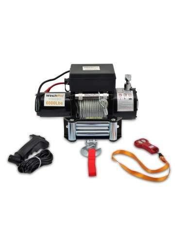 WinchPro - Cabrestante Electrico 12v Winch 2721Kg con Mando a Distancia 24m de Cable - AG/AW-6000W