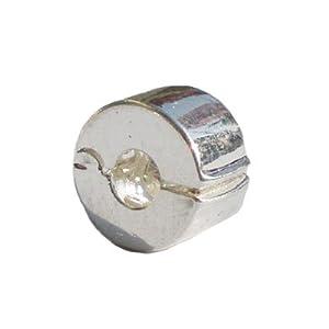 (918-) Versilberte Clip / Stopper für europäische Armbänder