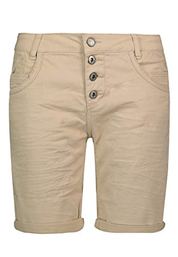Urban Surface Damen Bermuda Shorts | Bequeme Kurze Stoffhose aus Stretch-Twill - Loose Fit beige XL