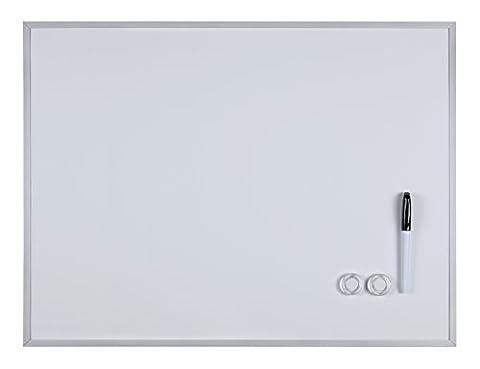 Magnet-Tafel schwarz oder weiß mit Aluminiumrahmen, 45 x 60 cm (weiß)