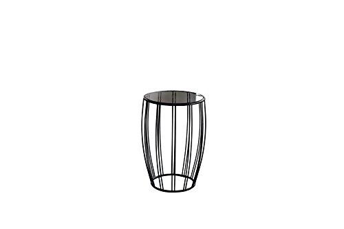 Qriosa Stile Italiano MOD. Bongo Glas–Beistelltisch SERVETTO aus Metall