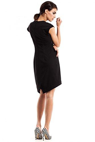 MOE Abito asimmetrico femminile senza maniche Nero