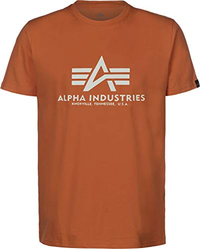 Alpha Industries T-Shirt Basic viele Farben (S, Copper) Alpha Parka