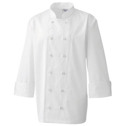 Premier - Bottoni Automatici per Giacca da Chef (12 pezzi) (Taglia unica) (Bianco)