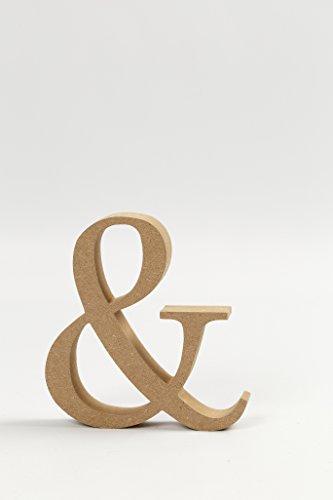 Unbekannt Holz Buchstaben Zeichen & Material MDF Höhe 8cm