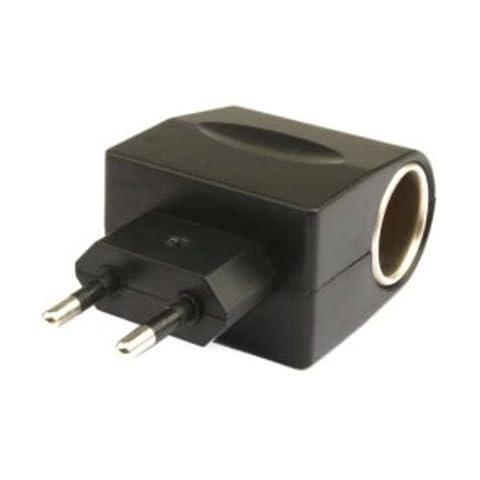 Tourwin Chargeur allume-cigare 110 à 220 V à 12 V AC Adaptateur secteur EU Noir
