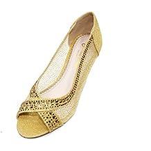 a1a9c8b38c8 W   W Mujer Zapatos de Noche Confort Casual Sandalias Planas para Fiestas  de Boda