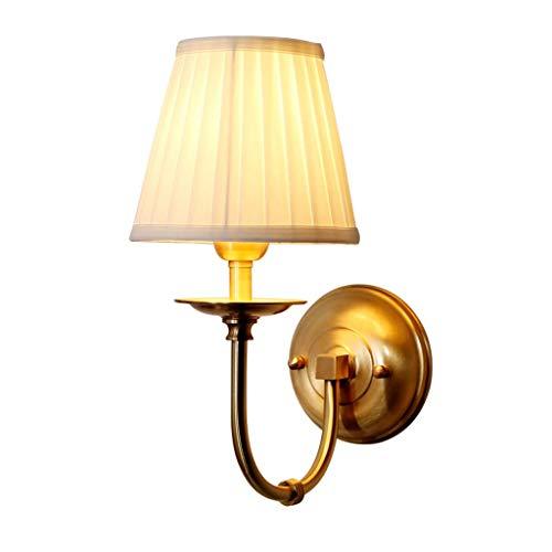 Pays d'Amérique lampe de mur en cuivre chambre lampe de chevet miroir phare simple salon lampe murale simple (taille: 16x33cm)
