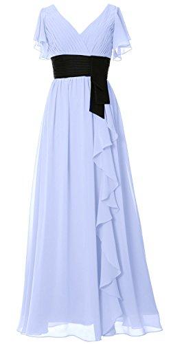 MACloth - Robe - Trapèze - Manches Courtes - Femme Bleu ciel