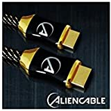 Aliencable 2m Cable HDMI Haut de gamme 1.4 High Speed with Ethernet - Connecteurs plaqués or 24 carats- Compatible 3D Full HD - 15,2 Gpbs