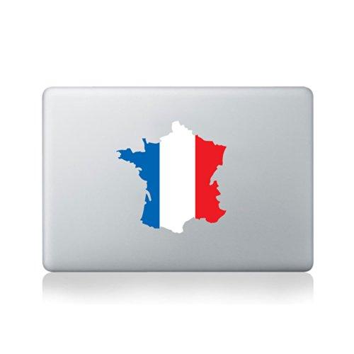 Preisvergleich Produktbild National Flag Country Outline of France Vinyl Sticker for Macbook (13/15), Laptop, Guitar, Car or Window