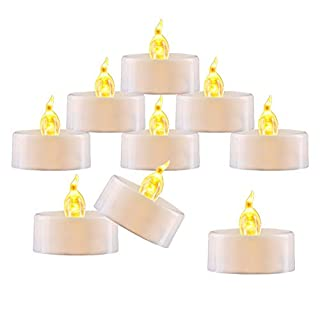 "Amagic Small Led Tealight Candles Bulk - Battery Operated Tea Lights with Flickering Amber Yellow Glow, Quality Fake Led Tealight Candles for Holiday, Wedding, Party, Votive(Pack of 30, Dia 1.4"")"