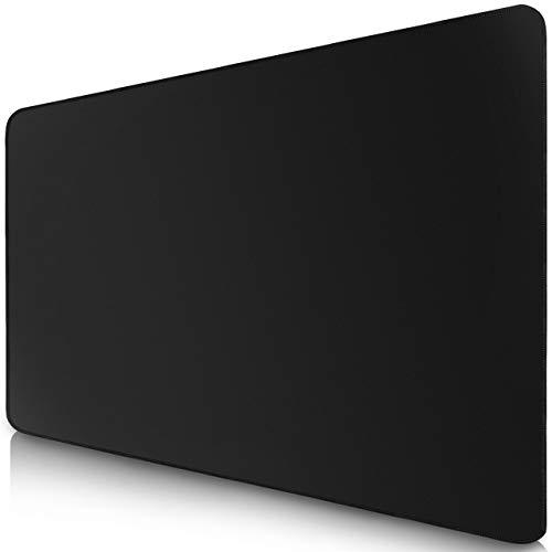 Sidorenko Gaming Mauspad - 350 x 260 mm - Fransenfreie Ränder - rutschfest - XXL Mousepad I Tischunterlage - spezielle Oberfläche verbessert Geschwindigkeit und Präzision I schwarz