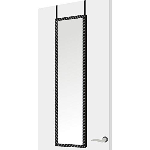 Espejo Puerta Moderno Negro plástico Dormitorio 35