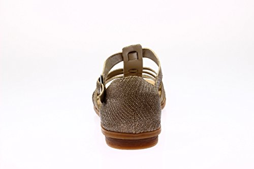 Rieker  64288-90, Sandales pour femme Or or 36 Or