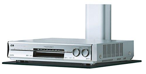 VCM Trägersystem Hifi Halter Halterung für Receiver DVD-Player Klarglas Schwarzglas