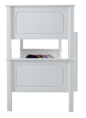 Happy Beds Vancouver White Finished Solid Pine Wooden Bunk Bed With 2x Memory Foam Mattress