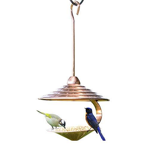 FAMLYJK Garten-Galvanik-Kupferfutter für draußen - einzigartige hängende vogelhäuschen -hohe hängende vogelzufuhr für Garten - Outdoor Baum Vogel samenzufuhr