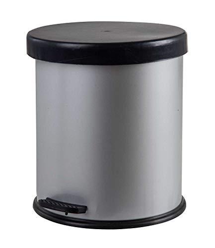 4l Bad Möbel (Nicht Zutreffend Mülleimer Abfalleimer Treteimer   Metall   Kunststoff   Silberfarben   4 Liter Fassungsvermögen)