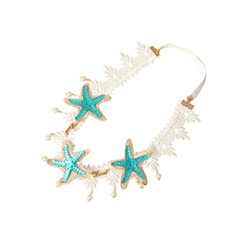 Lurrose Banda elástica frente venda cordón perla