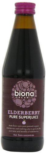 Biona Super Jus de Sureau Bio 330 ml - Lot de 6