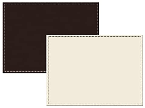 Creative Tops 4-Piece Faux Leather Reversible Brown and Cream Faux Leather Placemats, Brown/Cream, Set of 4