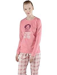 GISELA Pijama de Mujer Estampado Mafalda 2/1545 - Rosa, XL