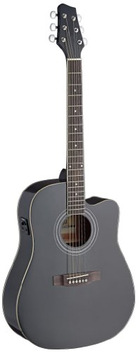 ROCKET MUSIC EAGD44BK   GUITARRA ELECTROACUSTICA (PUENTE FIJO  TIPO DREADNOUGHT)  COLOR NEGRO