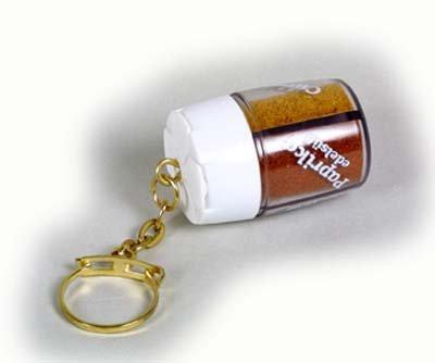 TreknEat Gewürzstreuer 4-fach Schlüsselanhänger, 1er Pack (1 x 15 g)