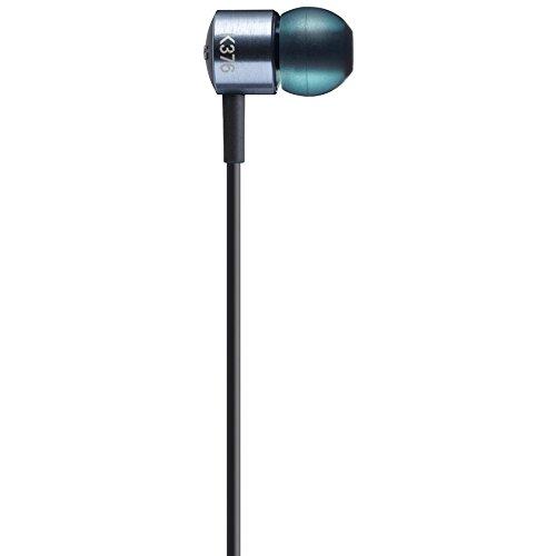 AKG K 376 Premium Aluminium In-Ear Kopfhörer mit Knopf Steuerung und Mikrofon für Android Smartphone blau