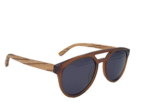 LAiMER Unisex-Erwachsene Sonnenbrille Brian, Braun (Marrone/Nero), 52