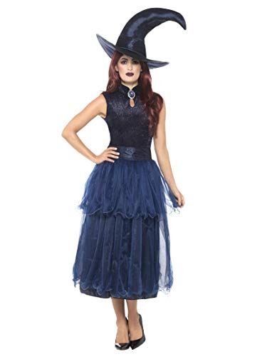 Hexe Kostüm Für Erwachsene Ideen - Smiffys Damen Mitternacht Hexen Kostüm, Kleid,