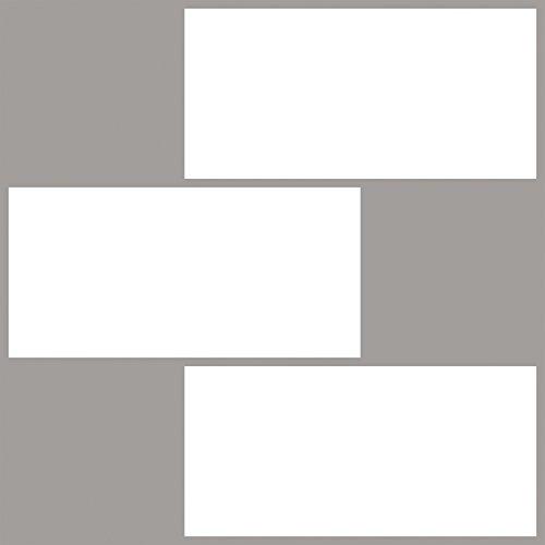 Inhome nh2363Subway schälen und Stick Duett Fliesen, weiß/creme