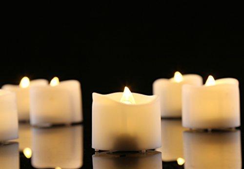 Homemory velas led,batería realista brillante parpadeo